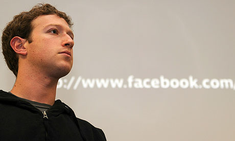 """Mark Zuckerberg's Facebook page has been hacked by an unknown person who"