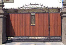 Wood Iron Gates 2
