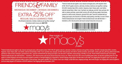 Macys FF 2 570x299 Macys Family & Friends | Extra 25% Off Discount