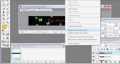 langkah3 Membuat Animasi Dengan Image Ready