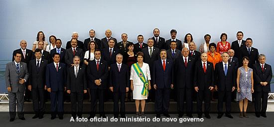 FOTO OFICIAL, DA POSSE DA PRESIDENTA DILMA