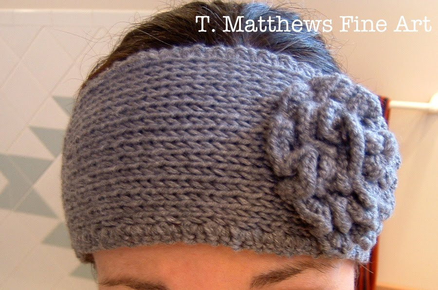 Knitted Ear Warmer Pattern : T. Matthews Fine Art: Free Knitting Pattern - Headband Ear Warmer