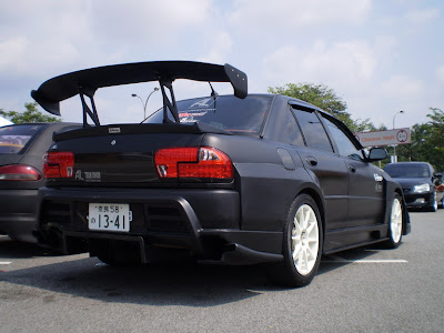 matte black wira wide body evo
