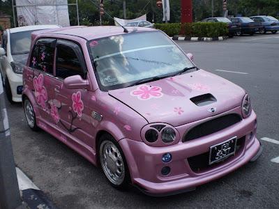 Pink color Perodua Kelisa