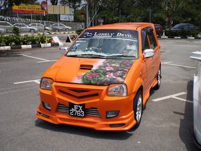Kancil custom front bumper