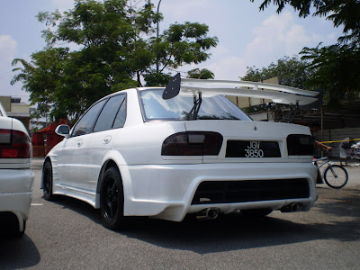 Modified Proton Wira Sedan