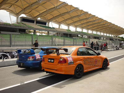 Time To Attack Sepang Evolution VS Impreza
