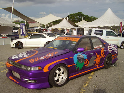 Nissan Cefiro A31 in purple