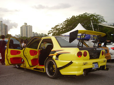 Proton Wira Skyline R34 custom body kit
