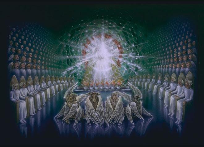 A visão do trono da majestade divina. Os vinte e quatro anciãos e os quatro seres viventes !!!!!
