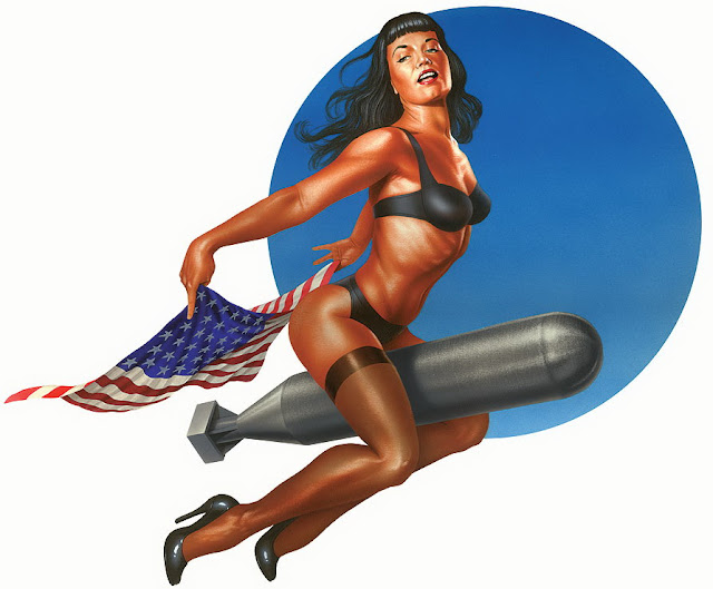pin up Bettie Paige Bomb