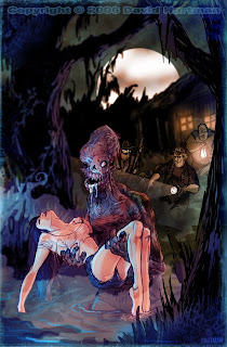 horror comic book art