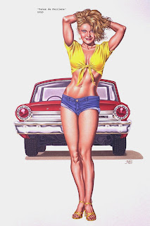 Mark Blanton retro pin up