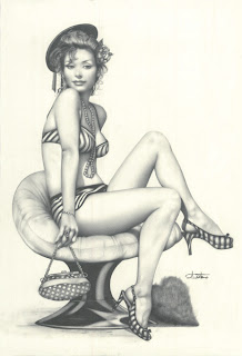 Arantza Sestayo pin up