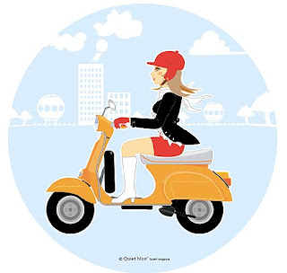 Vespa Pin Up
