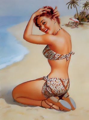Pearl Frush vintage pin up