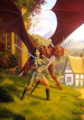 Larry Elmore fantasy woman