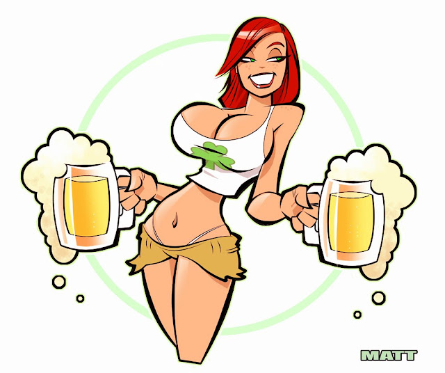 beer vector girl