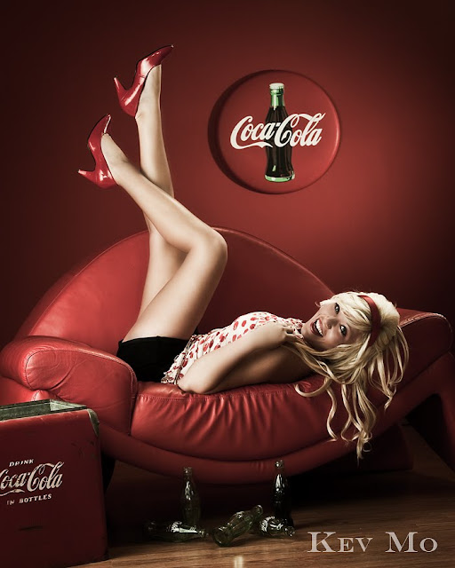 Kev Mo pin up Coca Cola Ads