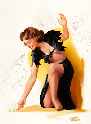 Ted Withers classic pin up