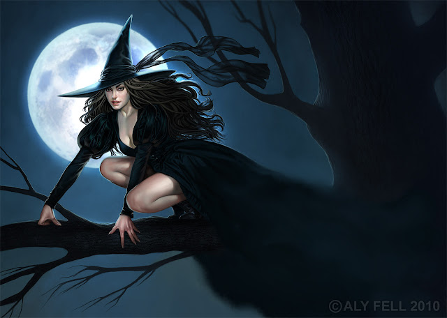 Halloween Soon! Witch by Aly Fell
