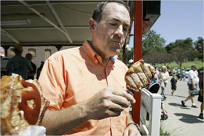 mike huckabee eating