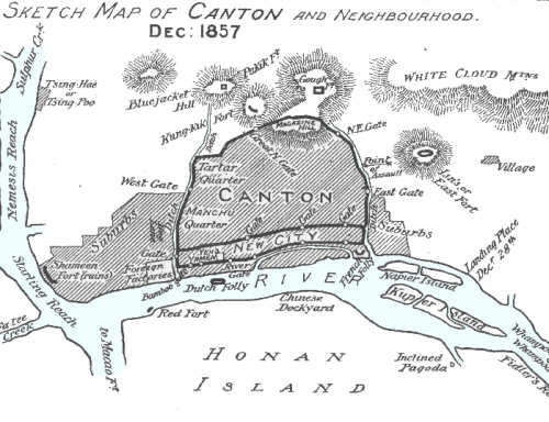 Canton and Defensive Forts Dec. 1857