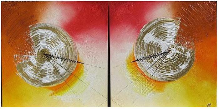 """Sol ao Espelho""  ( 2x ) 50x2x50"