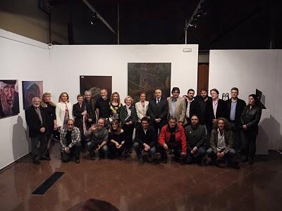 Exposicion Nous Ponts con grupo de artistas