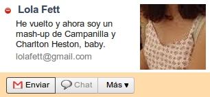 He vuelto y ahora soy un mash-up de Campanilla y Charlton Heston, baby - Lola Fett