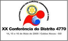 XX CONFERENCIA DO DISTRITO 4770