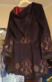 custom plus size black velvet embroidered frock coat