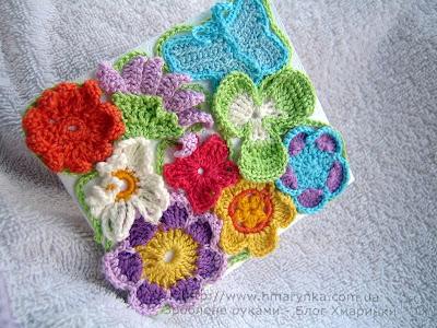 Листівка своїми руками з квітами