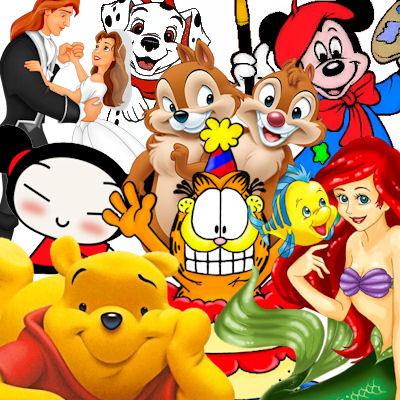Desenhos de personagens infantis  para baixar.