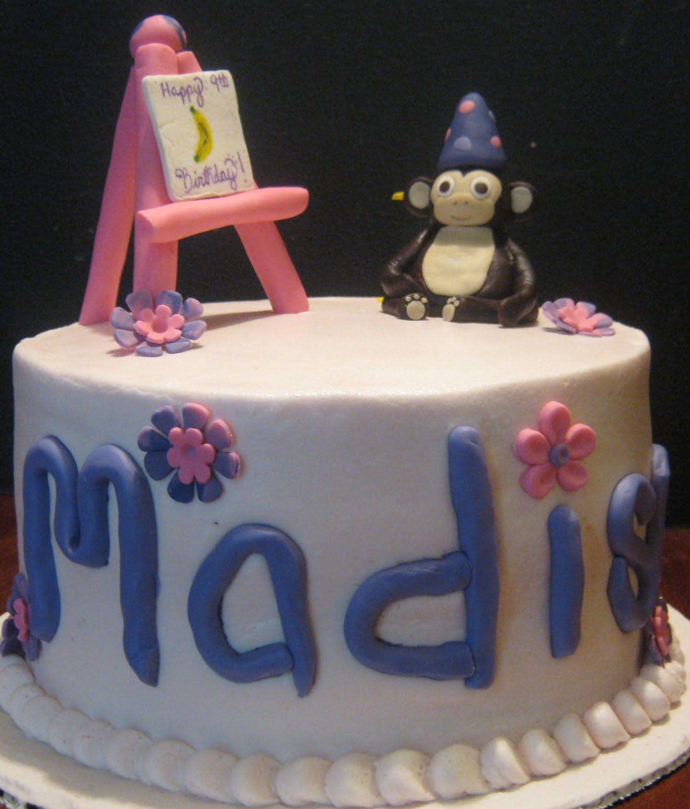 Sweet Ts Cake Design Artistic Sculpted Monkey Birthday Cake