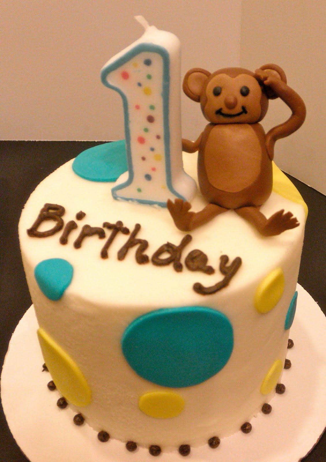 Sweet Ts Cake Design Mod Monkey Birthday Cake