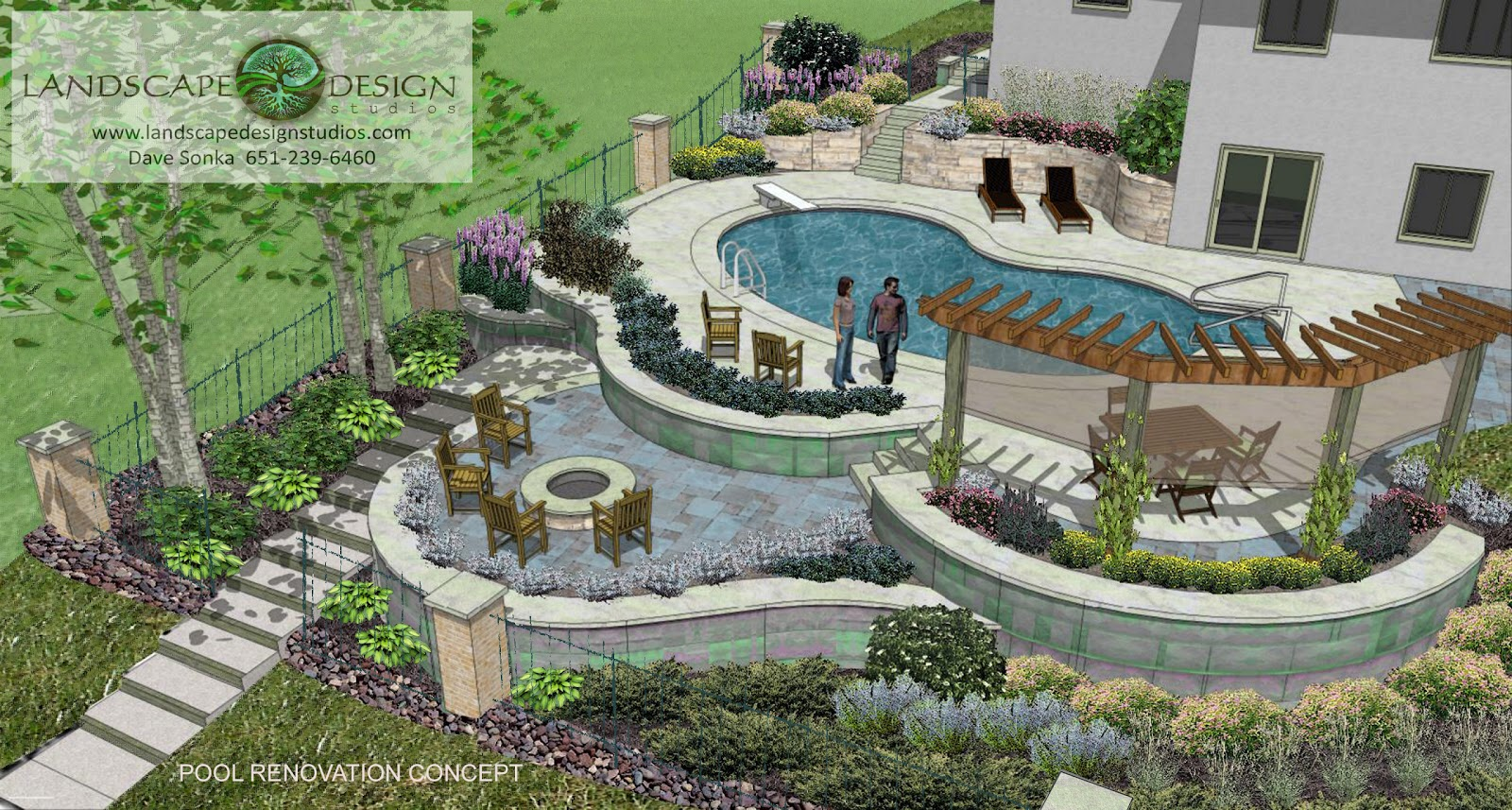 Landscape design swimming pool design ideas for house for Pool landscape design