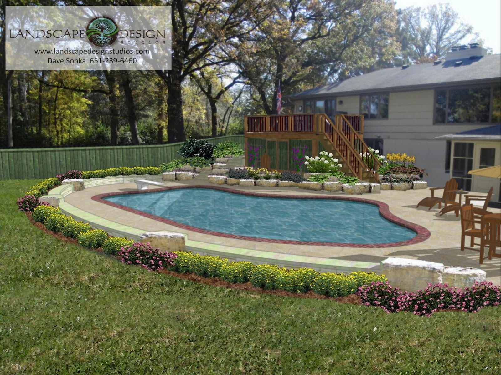 Landscaping area landscaping ideas around spa pools for Garden designs around pools
