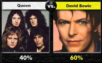 Queen vs. David Bowie