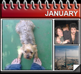 Jared Woods January 2010: Wriggles Dies, The Freewheelin Troubadour moves into East Village, Burj Khalifa get erected