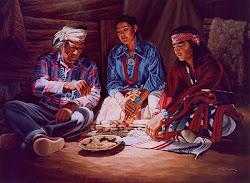 Indios navajos realizando algún ritual