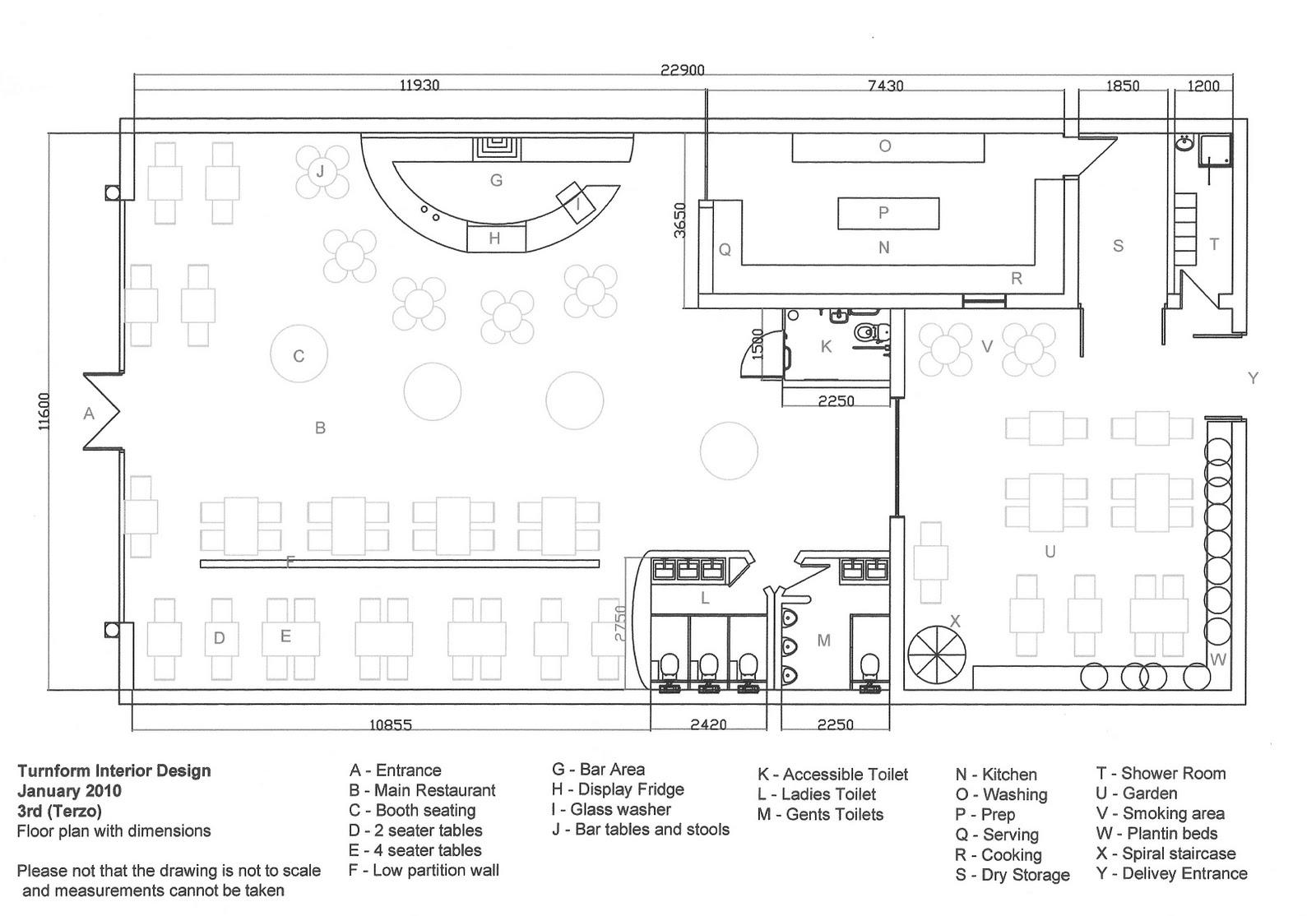 Lisa Tanzi Interior Designer Restaurant Project Schematic Newly Designed Plan 104 Covers