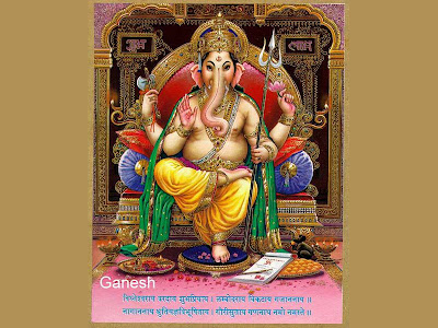 lord ganesha painting wallpaper