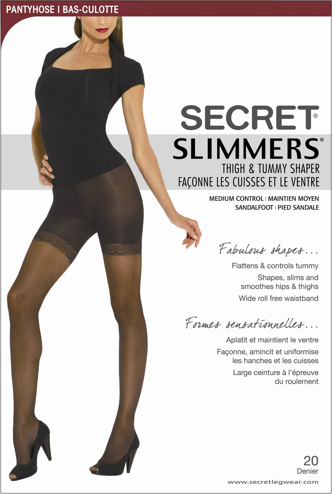Secret Slimmers pantyhose.
