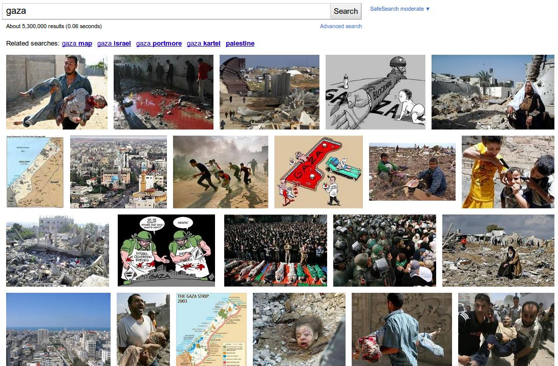 Israel vs Gaza On Google Images