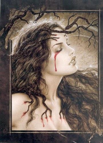 llorar sangre: