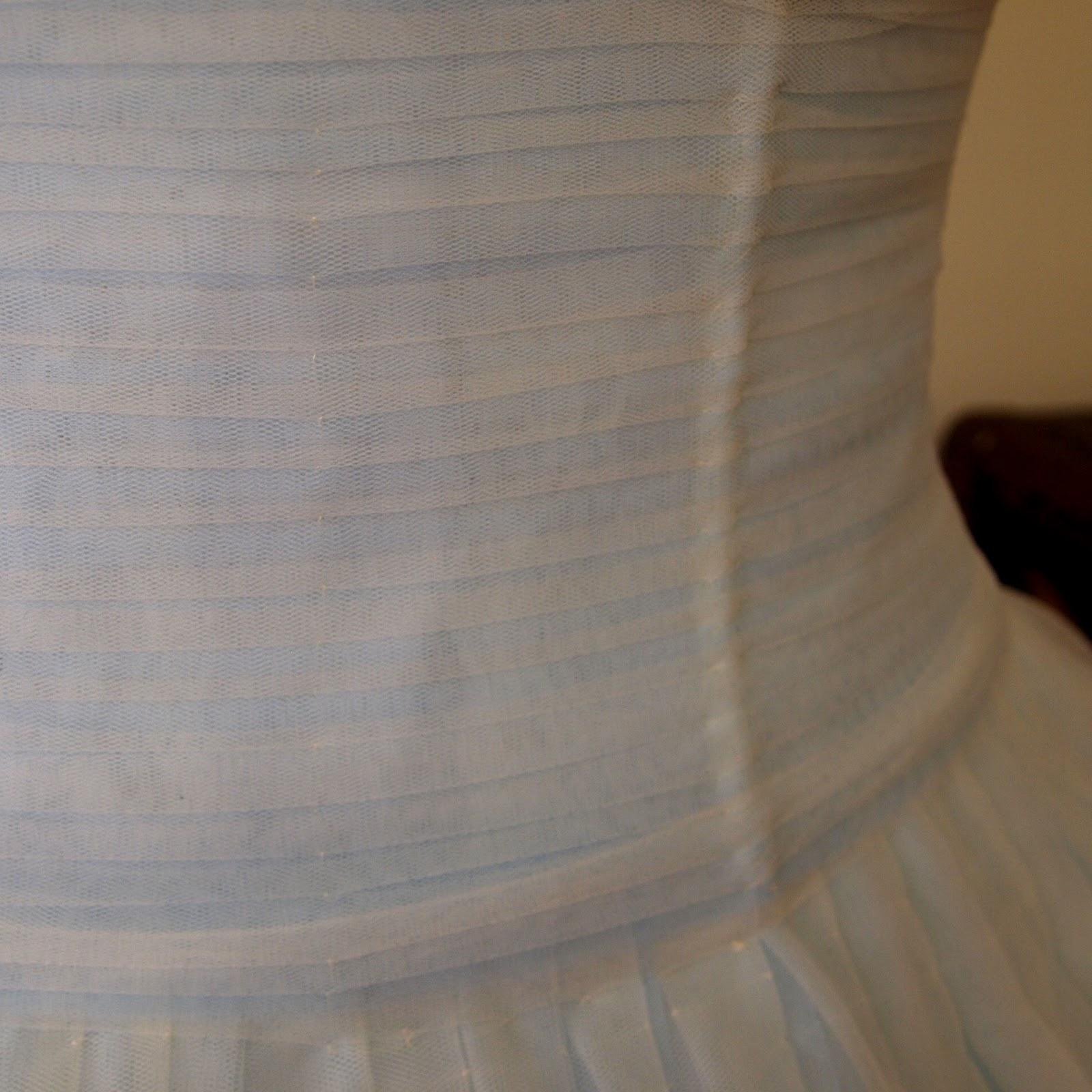 Something blue s wedding dress