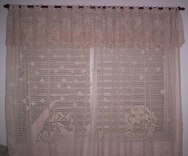 Elô Arte Croche Cortina para quarto