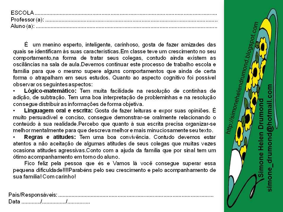 Famosos Simone Helen Drumond : Apostila de Fichas descritivas (PARECER  RK83