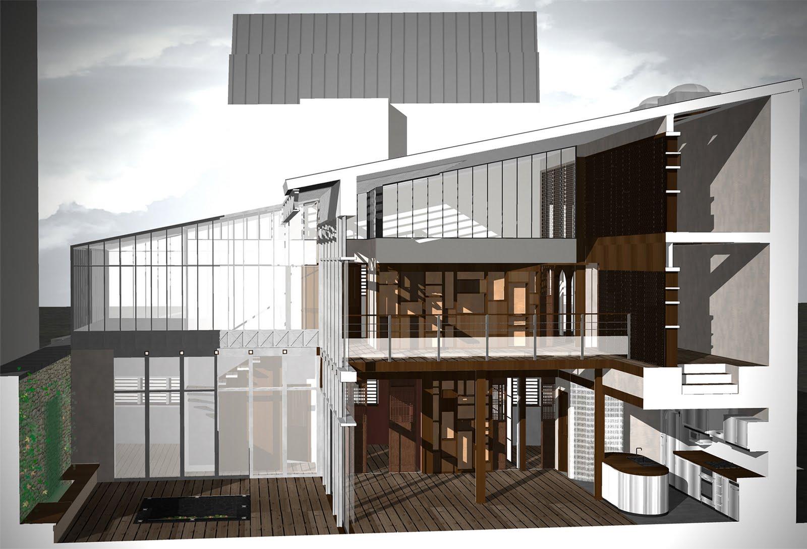 atelier d 39 architecture castellani r novation et restructuration d 39 un h tel particulier avec. Black Bedroom Furniture Sets. Home Design Ideas